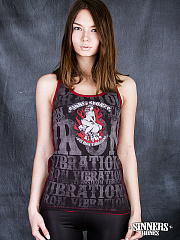 "Frauen-Achselshirt ""Love Iron Vibrations"""